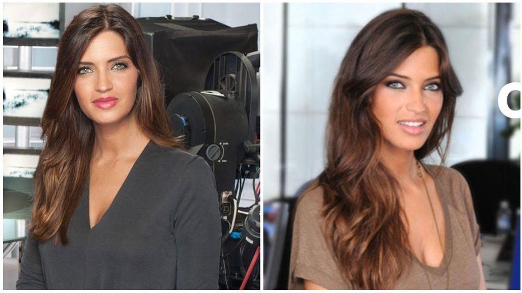 Sara, como presentadora del espacio de Deportes en Telecinco y Cuatro.