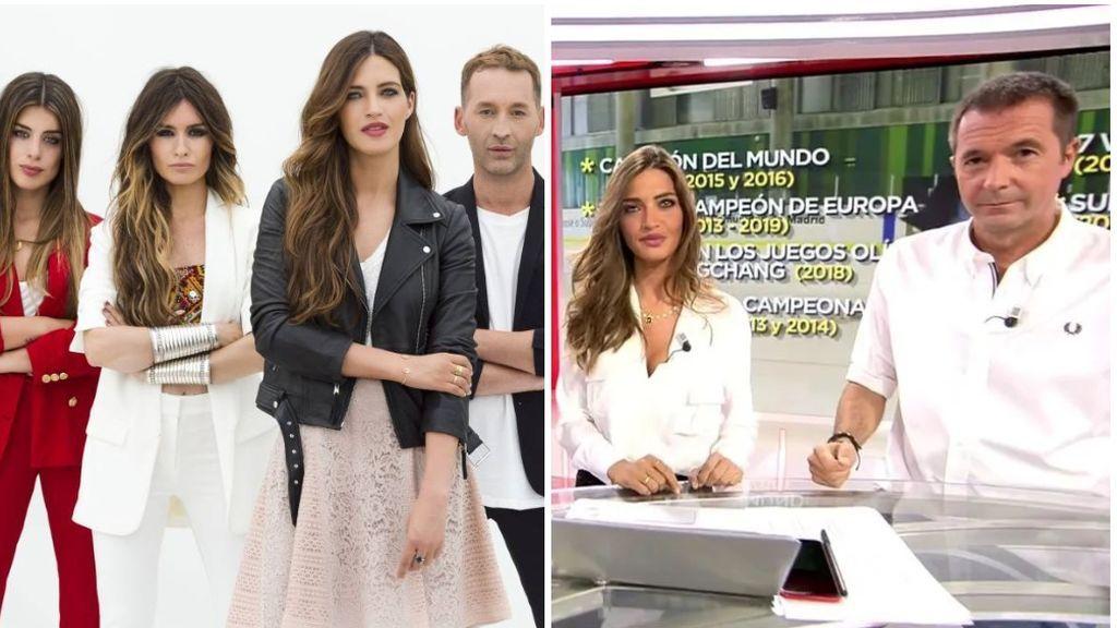 Sara Carbonero, en 'Quiero Ser' y en su espacio de entrevistas en Cuatro.