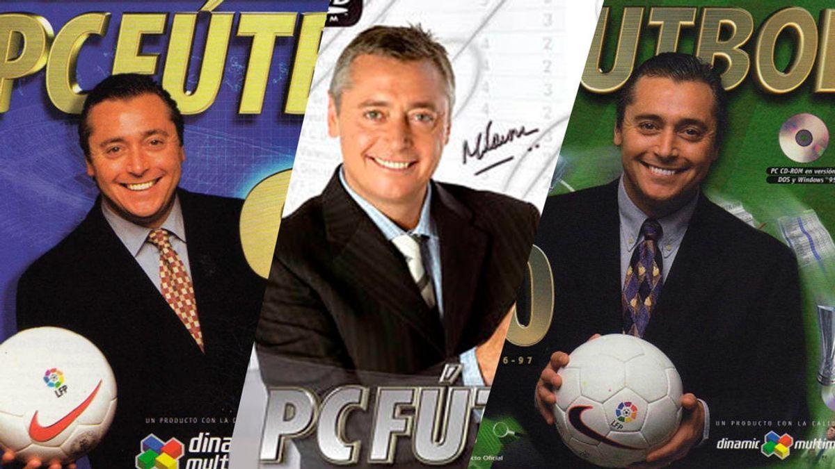 Michael Robinson en las portadas de PC Fútbol