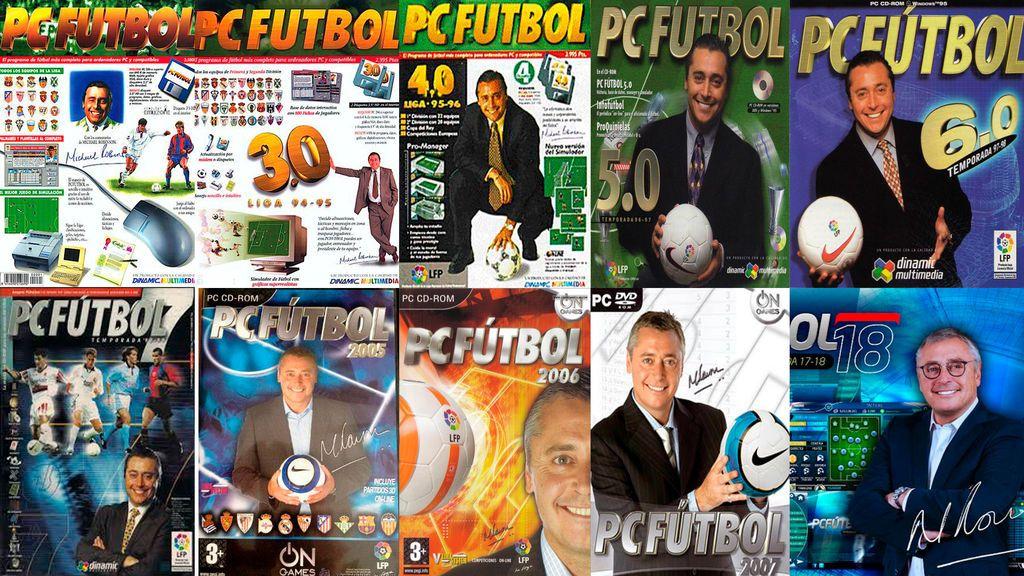 Todas las portadas de Michael Robinson en PC Fútbol