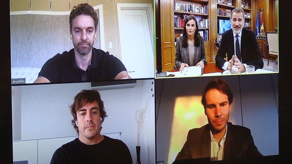 Pau Gasol deja alucinados a sus seguidores apareciendo con el nombre de 'Anacleto' en la reunión telemática con los Reyes de España