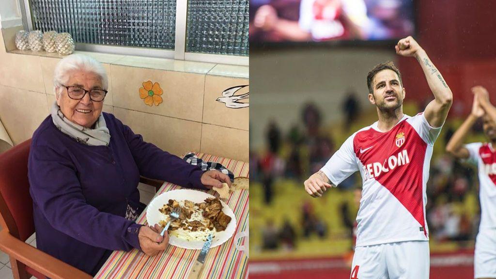 """El mensaje de Cesc Fábregas a su bisabuela tras superar el coronavirus con 95 años: """"Es una superheroína"""""""