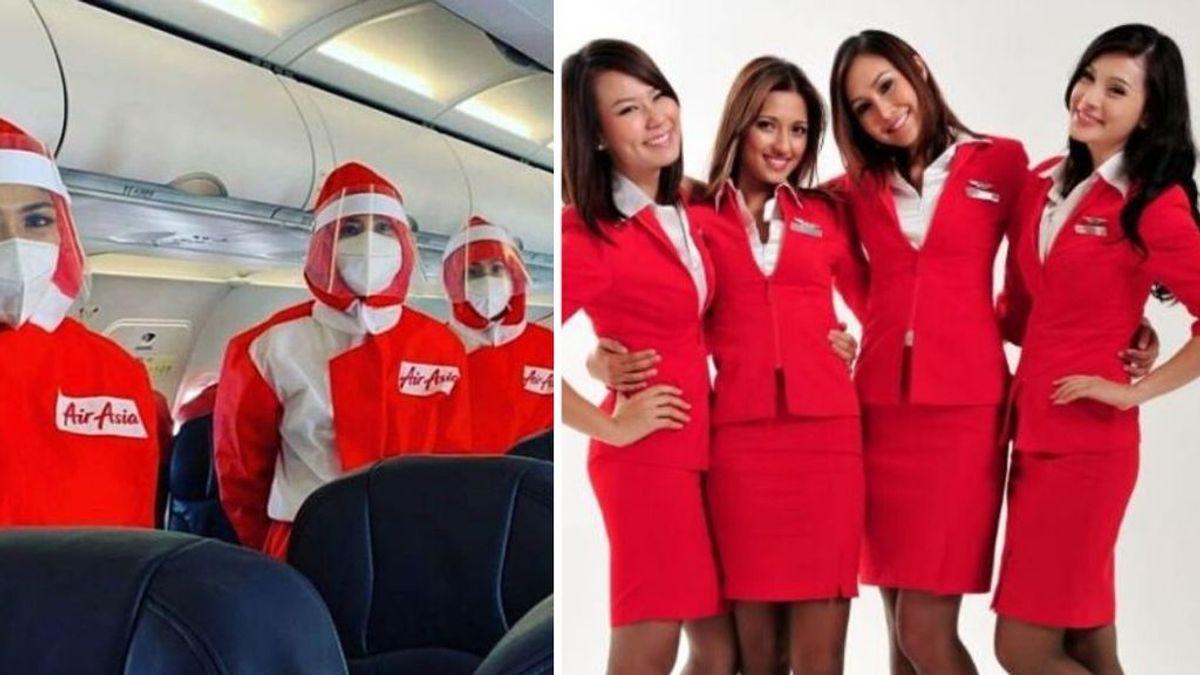 La compañía aérea Air Asia viste con trajes de protección especial a toda su tripulación