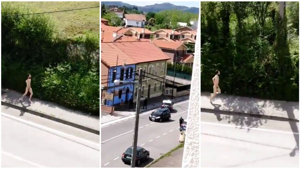 """Detenido un hombre por salir a correr desnudo y drogado en Asturias: """"Échate para atrás"""""""