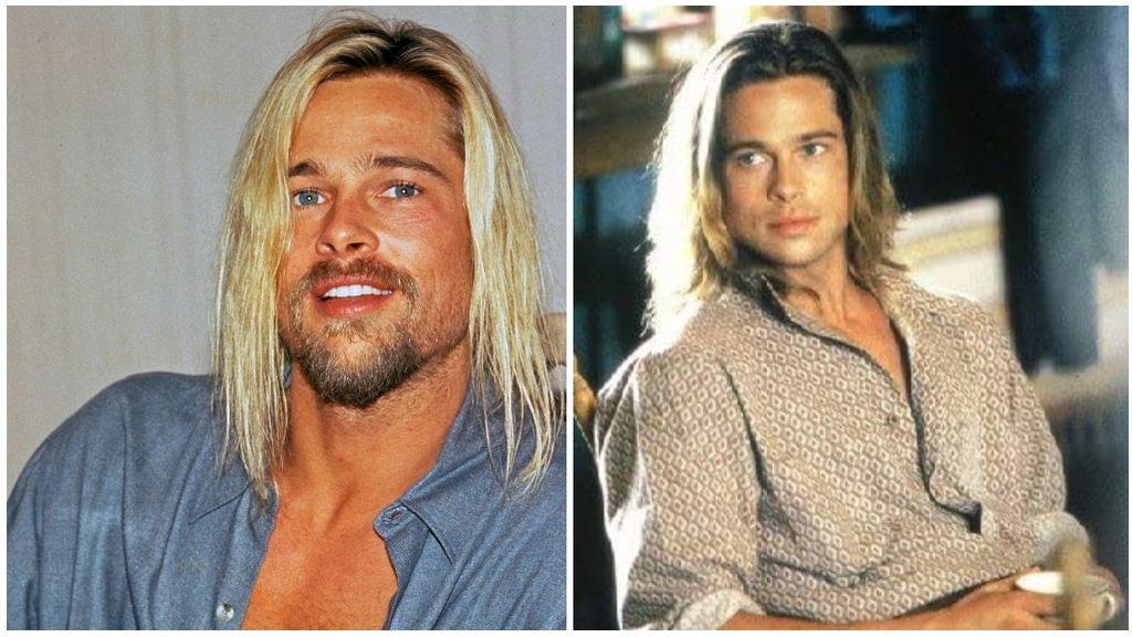 Brad Pitt en 'Leyendas de pasión', a la derecha, y en 2004, a la izquierda.