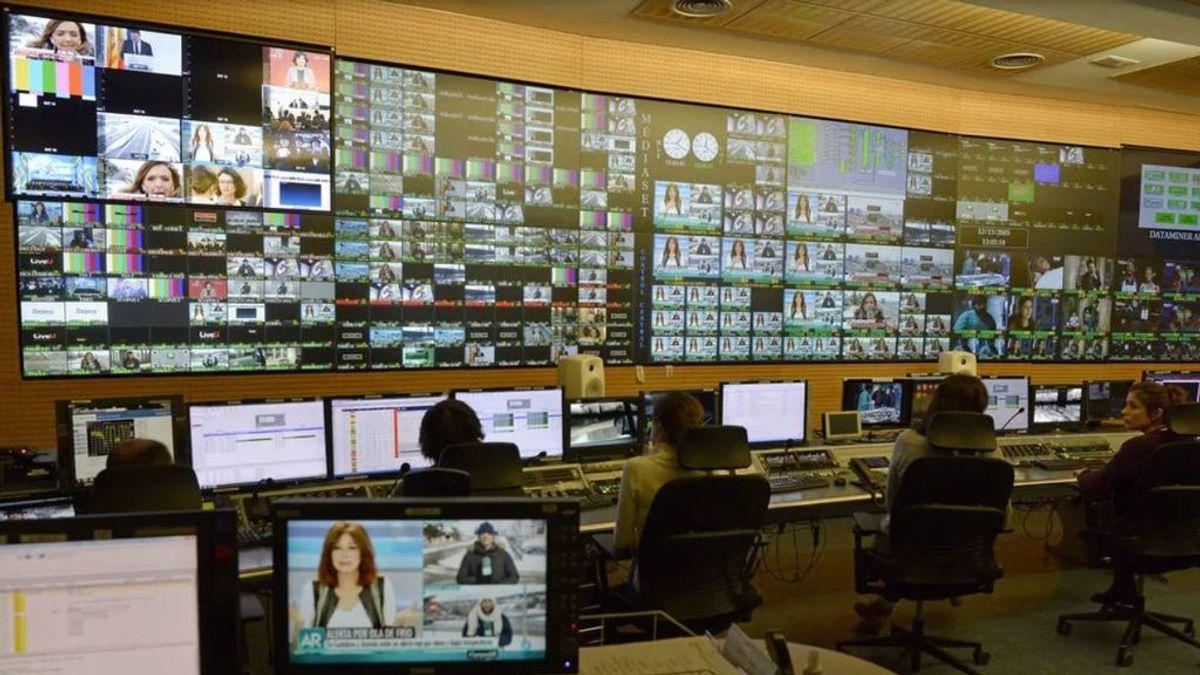Control central de Mediaset España.