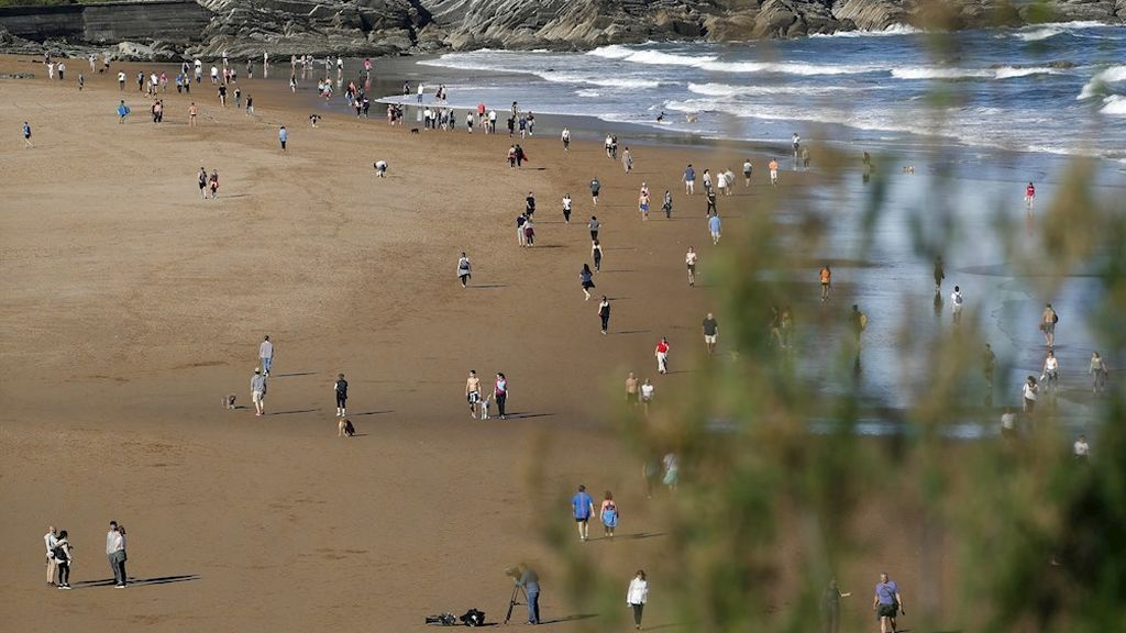 Playa vizcaína de Sopelana