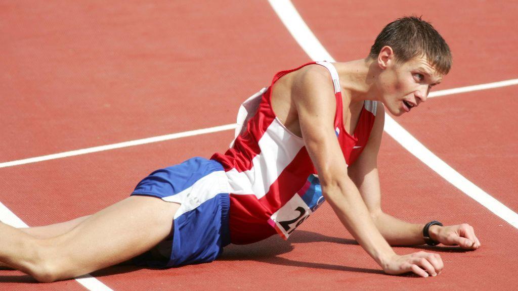 atleta afectado por una lipotimia