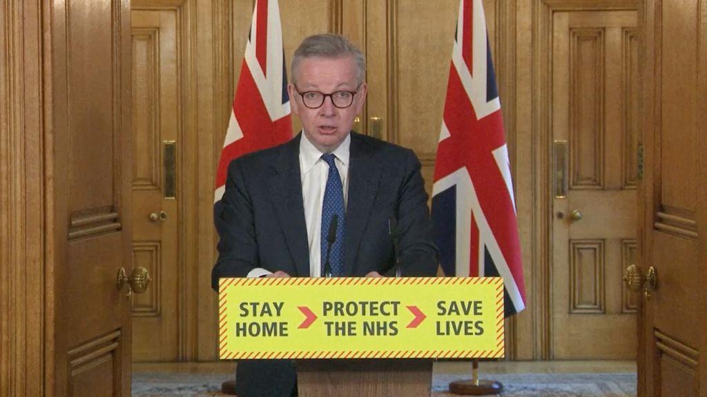 El ministro de Gabinete del Gobierno británico, Michael Gove