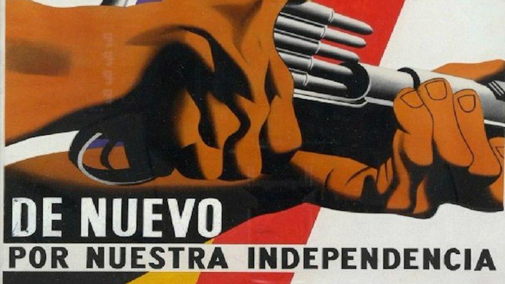 """El jefe de comunicación del departament de Interior publica un cartel republicano de llamada a la lucha armada """"por la independencia"""""""