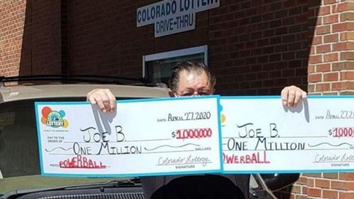 Un hombre gana la lotería dos veces en un mismo día: dos millones en plena cuarentena