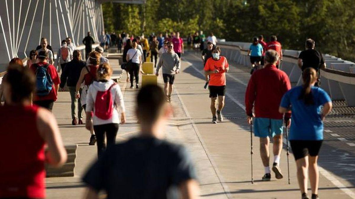 El deporte y los paseos no tienen límite de tiempo dentro de las franjas horarias