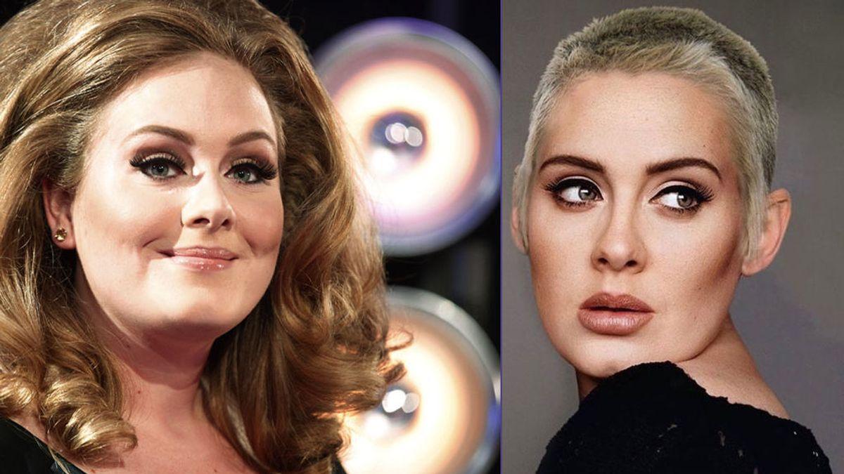 El artista que triunfa con el rapado de Adele y otros cambios radicales de famosos