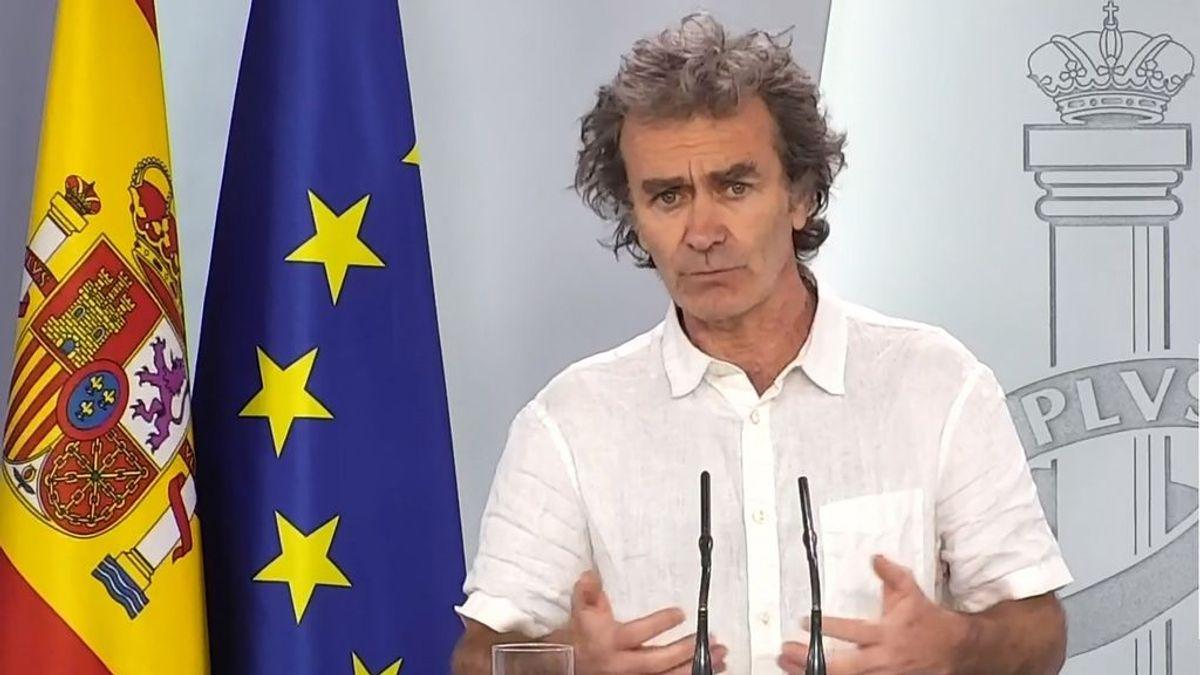 """Fernando Simón advierte: """"El que los datos vayan bien no elimina el riesgo de rebrote"""""""