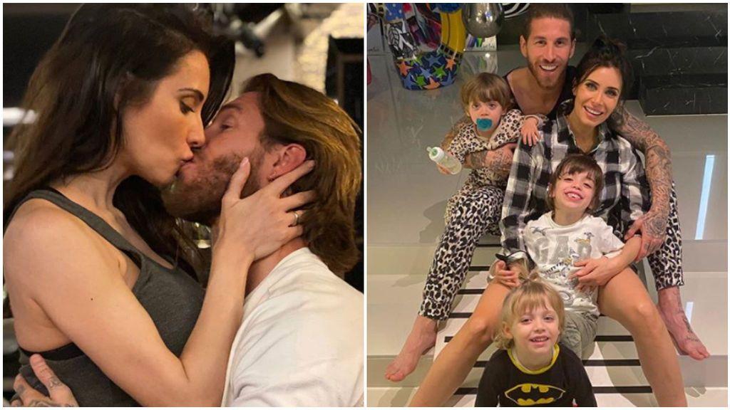 Sergio Ramos, junto a Pilar Rubio y sus hijos en fotos de Instagram.