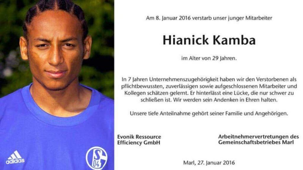 Hallan con vida al exjugador del Schalke Hiannick Kamba, dado por muerto en un accidente de tráfico en 2016