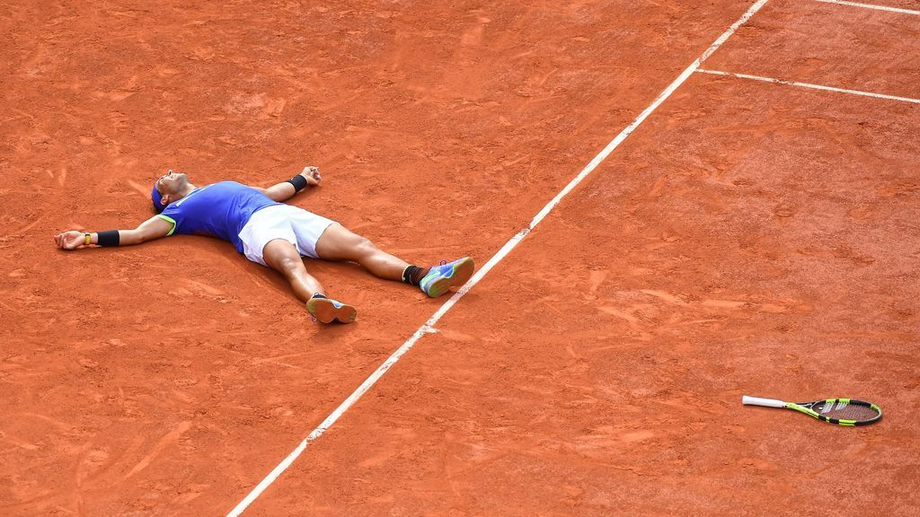 jugador de tenis en el Roland Garros disputado antes del impacto del coronavirus