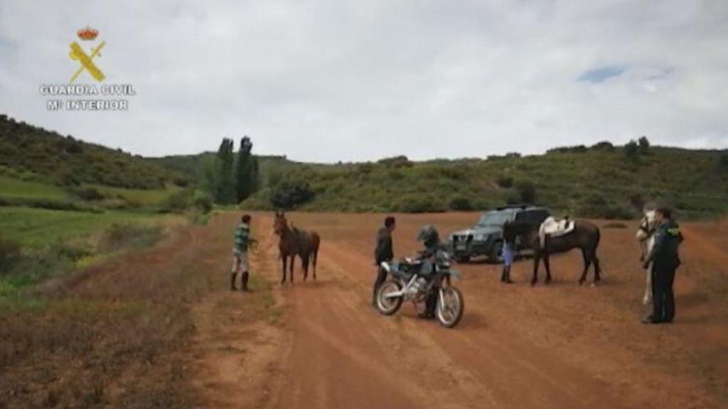 Jinetes huyendo a caballo en Navarra, entre los últimos sancionados en el estado de alarma