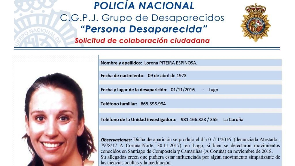 Una mujer gallega da señales de vida cuatro años después de desaparecer