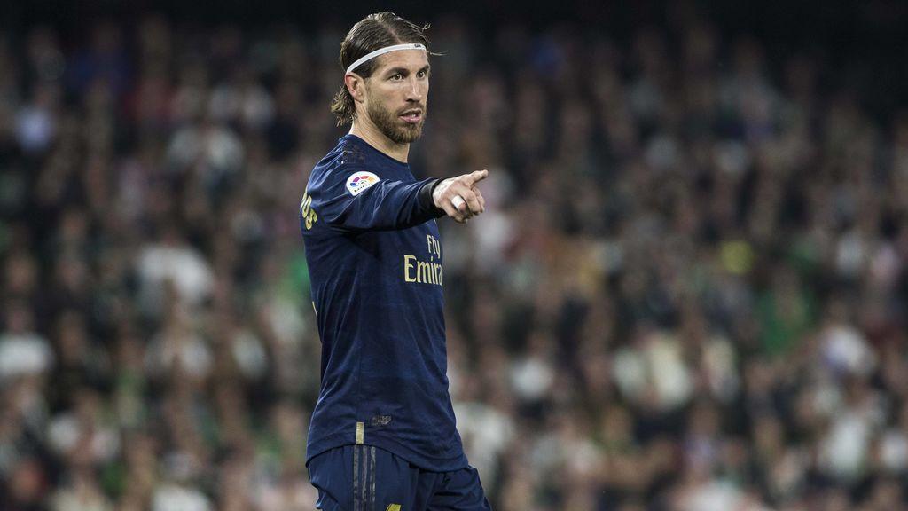 Sergio Ramos durante un partido