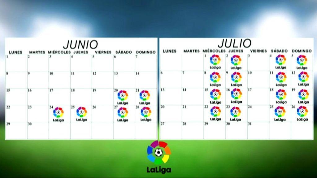 Así sería el calendario de Liga.