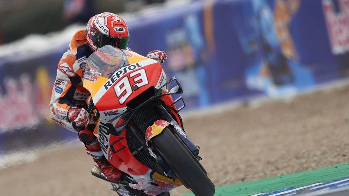 Marc Márquez, en el circuito de Jerez en el pasado Mundial de MotoGP