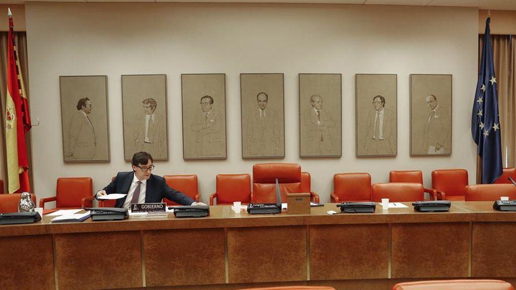 El ministro de Sanidad, Salvador Illa, en su séptima comparecencia en el Congreso