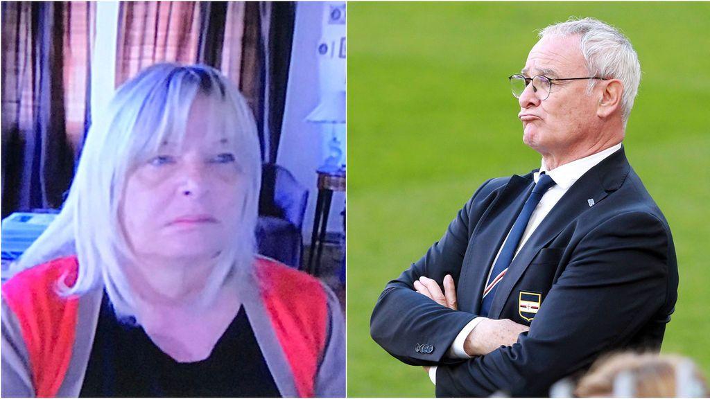 La mujer de Claudio Ranieri se cuela sin querer en una vídeollamada en directo del exentrenador del Leicester