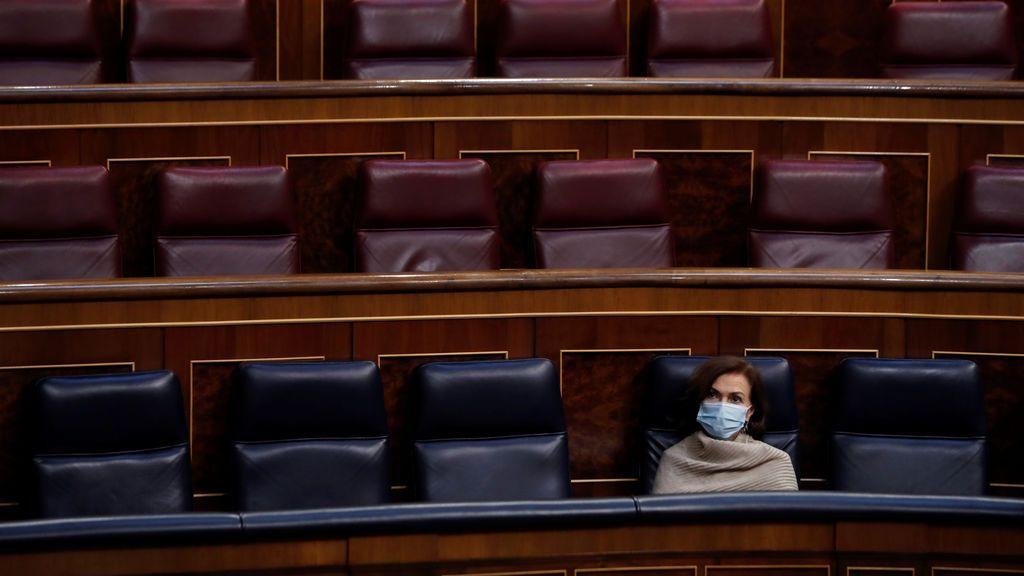 """Carmen Calvo adelanta que se necesitarán """"unas semanas más"""" de estado de alarma"""
