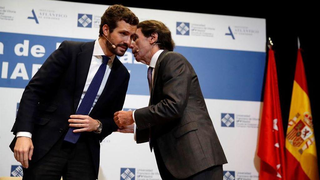 Aznar al rescate de Casado: FAES recuerda a Arrimadas la fábula de 'la rana y el escorpión'