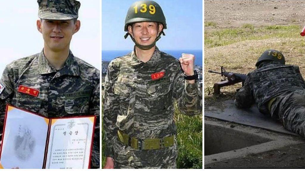 Son termina el servicio militar surcoreano y consigue un premio por su gran efectividad disparando