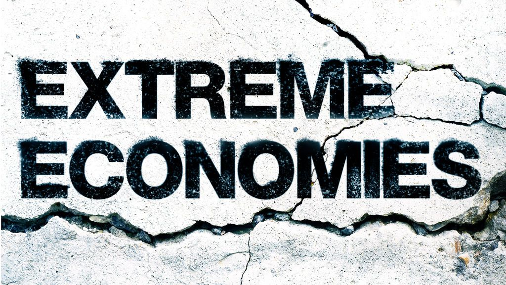 Detalle de la portada del libro Extreme Economies (Ed. Farrar, Straus and Giroux, 2019).