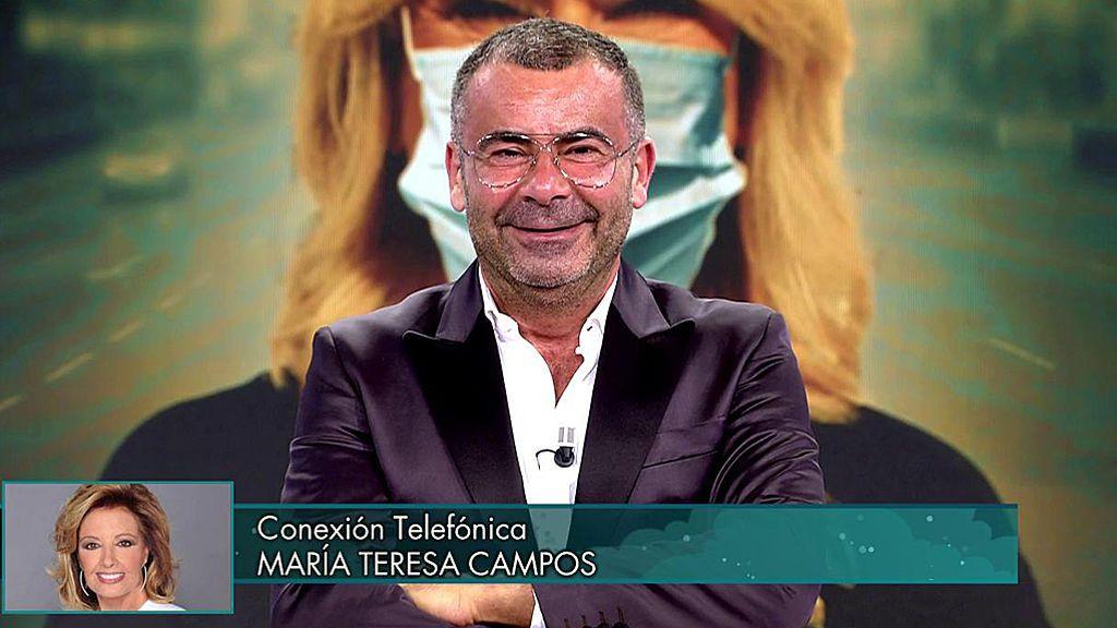 El enfado de María Teresa con Jorge Javier