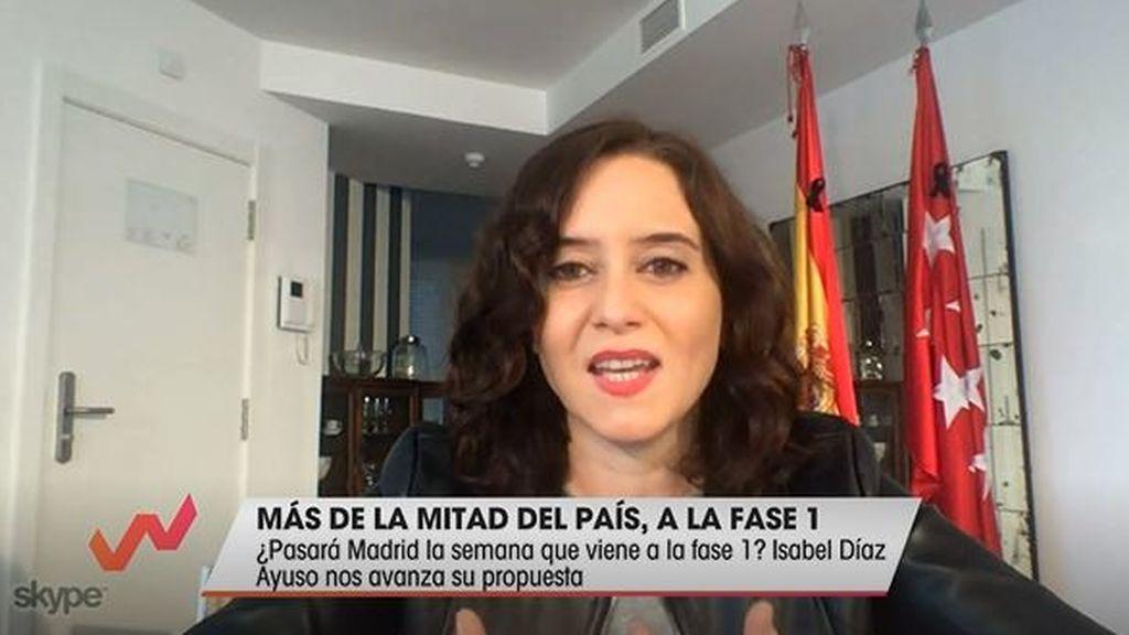 Díaz Ayuso en el programa 'Viva la Vida' de Telecinco