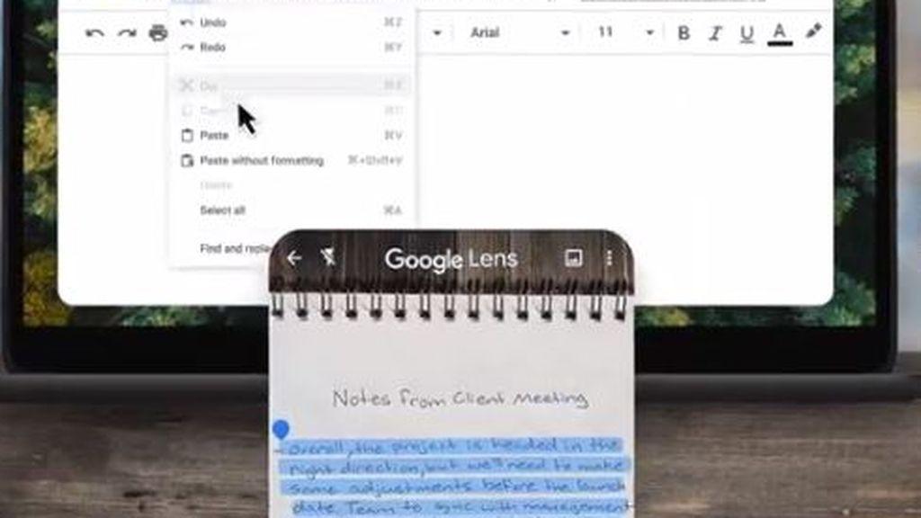 Google Lens permite ahora copiar texto escrito a mano y pasarlo al ordenador
