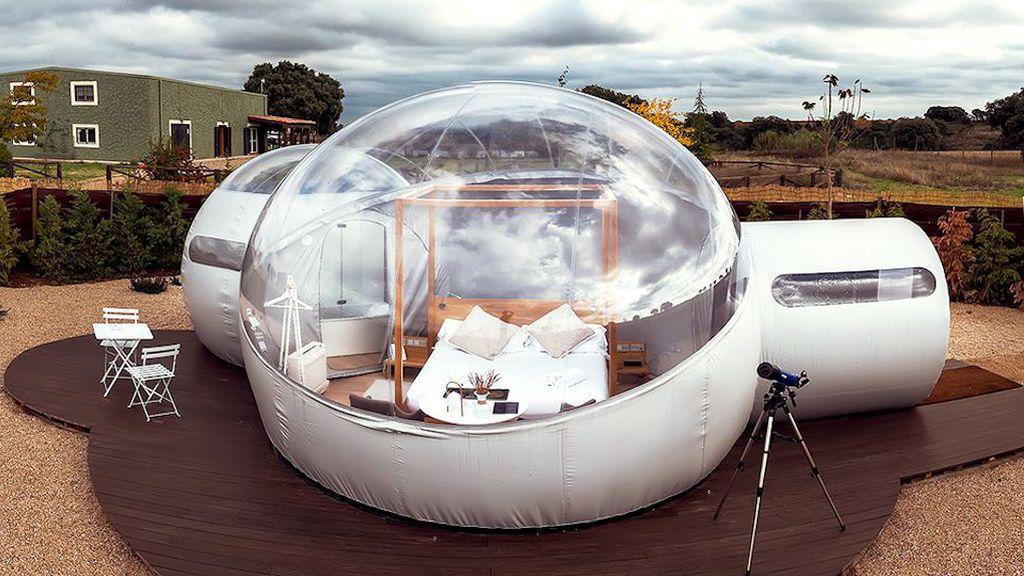 Dormir en una burbuja, nuevo lujo en plena naturaleza