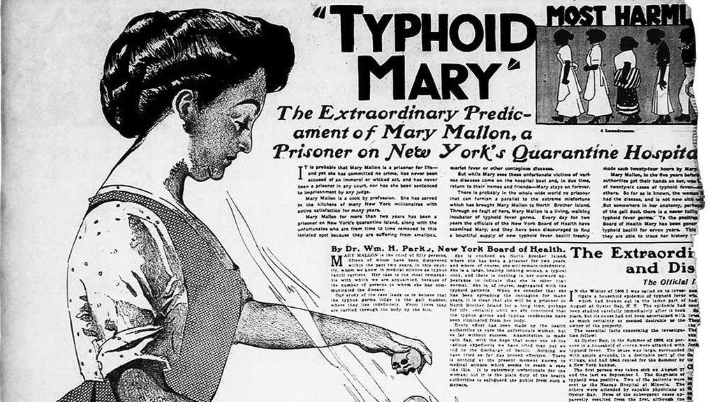 Mary Tifoidea: la cocinera que vivió un cuarto de siglo encuarentena