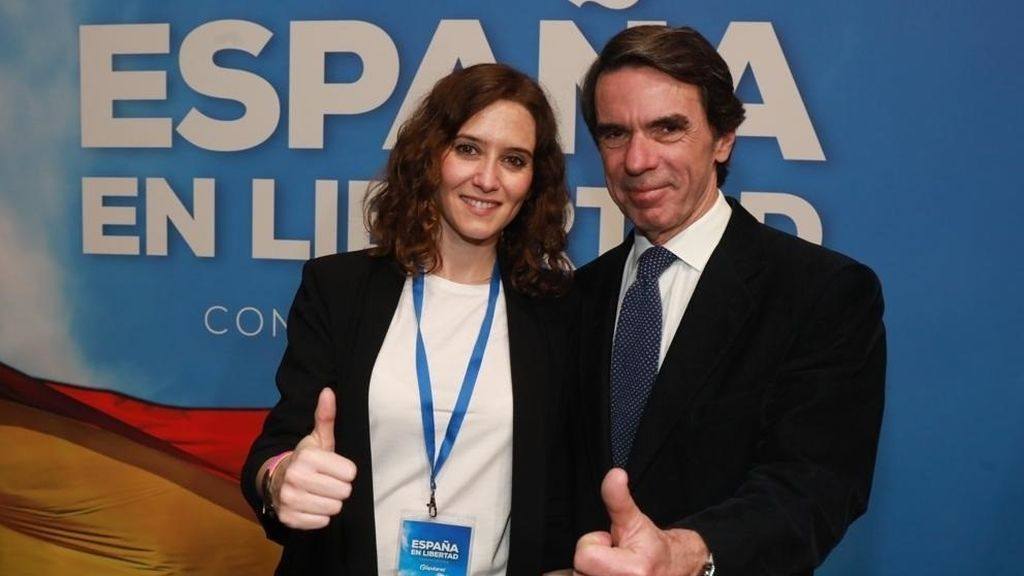 Aznar arropa a Ayuso: a mí me insultaba Chávez y ahora envidio que sus hijos te insulten a ti