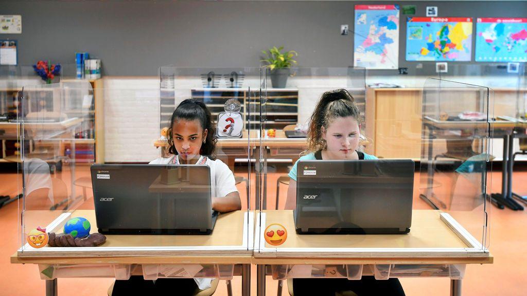 Los colegios holandeses reabren con medidas covid-19
