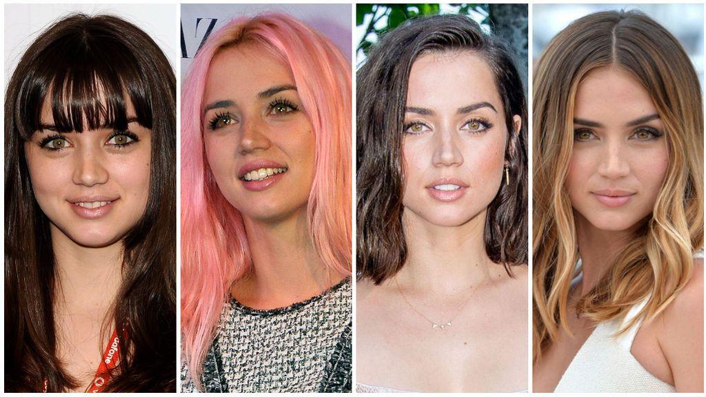 Estos son los impresionantes cambios de look de Ana de Armas.