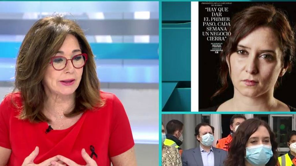 """Ana Rosa, de las fotos de Díaz Ayuso: """"A mí no me han gustado"""""""