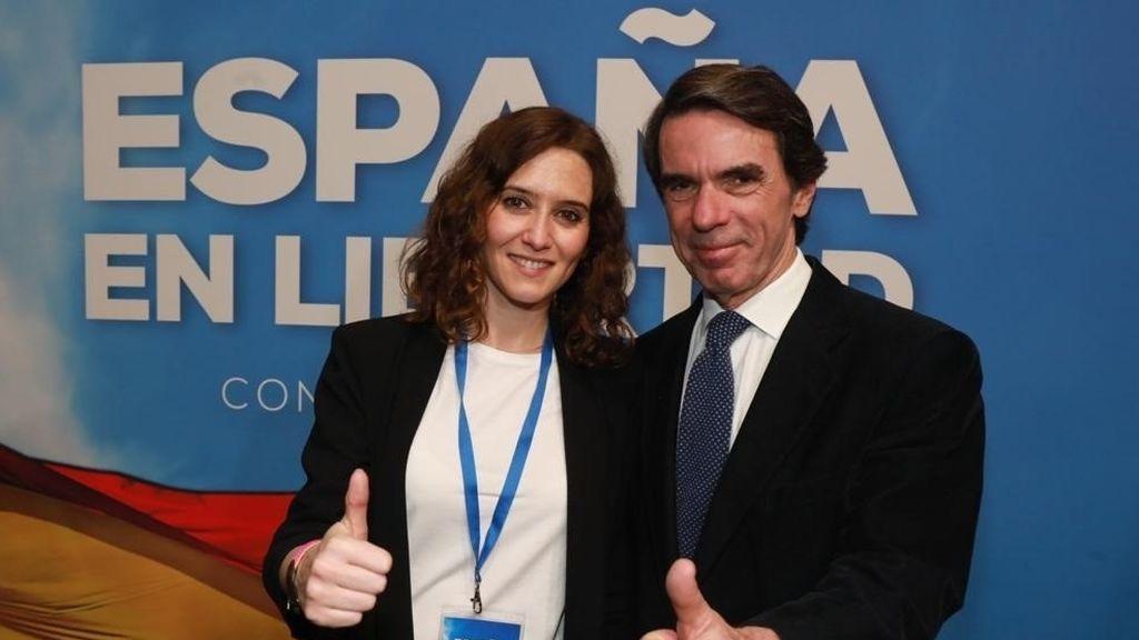 José María Aznar con Isabel Díaz Ayuso en una imagen de archivo