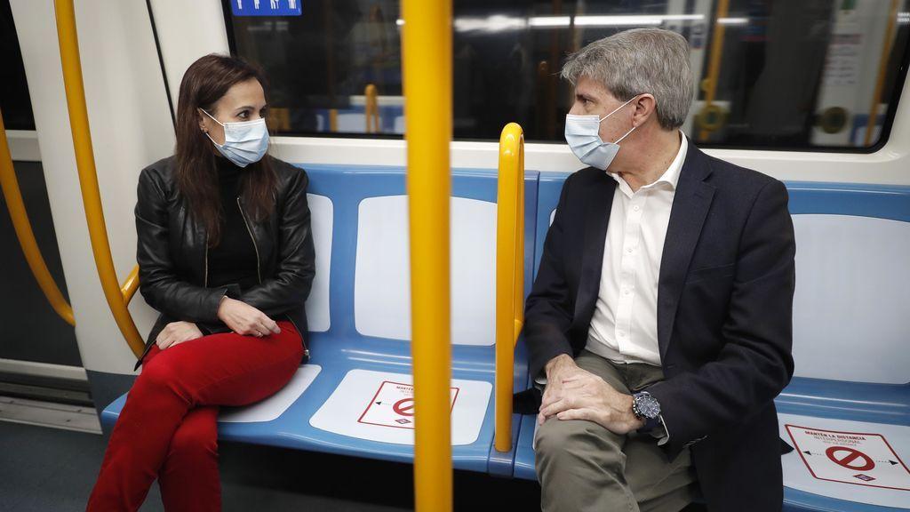 Con un asiento vacío de por medio: Metro de Madrid estrena nuevas señales para mantener las distancias