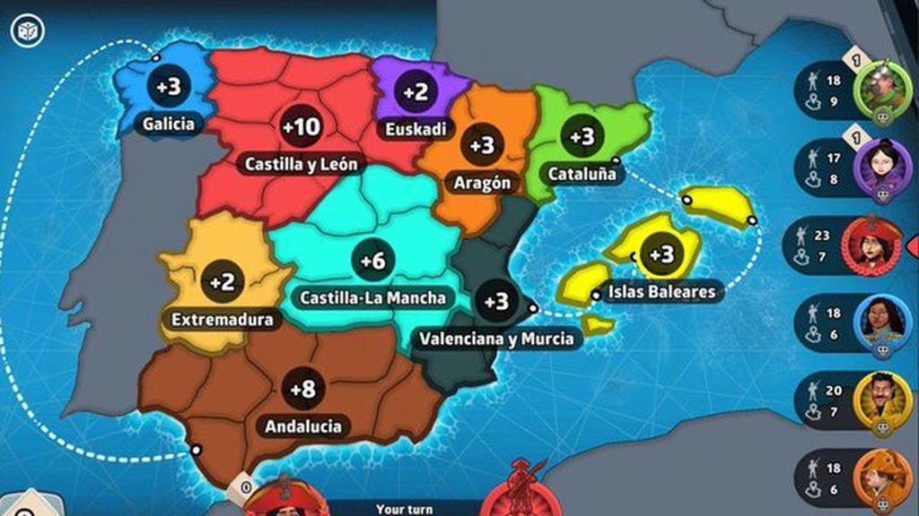 Asturias y Cantabria no son Castilla y León: España ya está en el Risk pero con errores geográficos