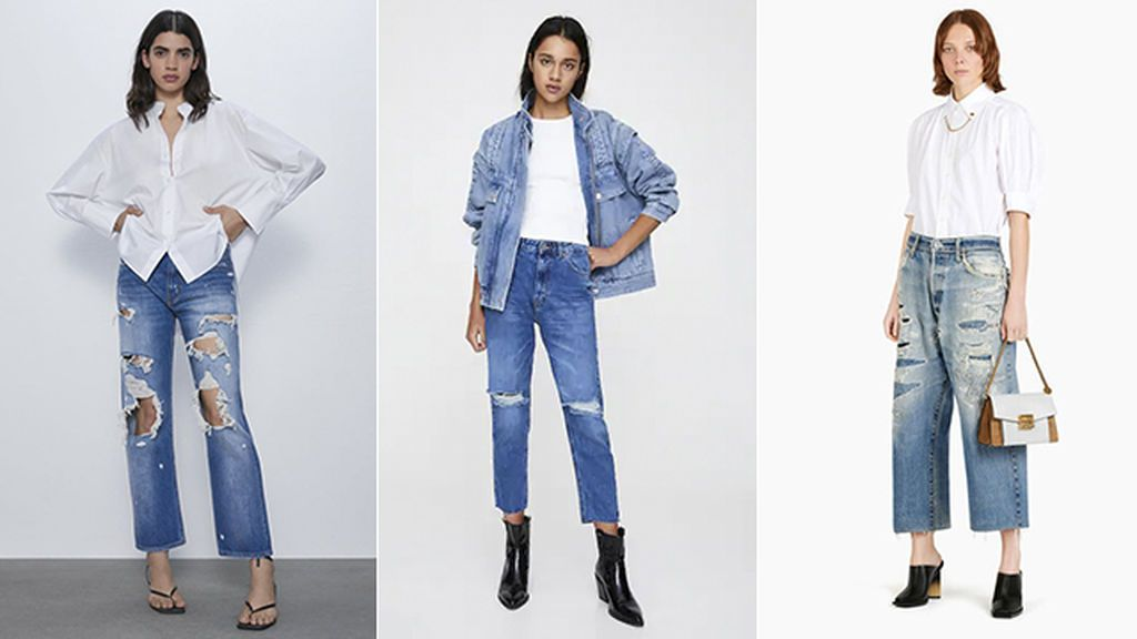 Cropped jean de Zara, Pull & Bear y Givenchy
