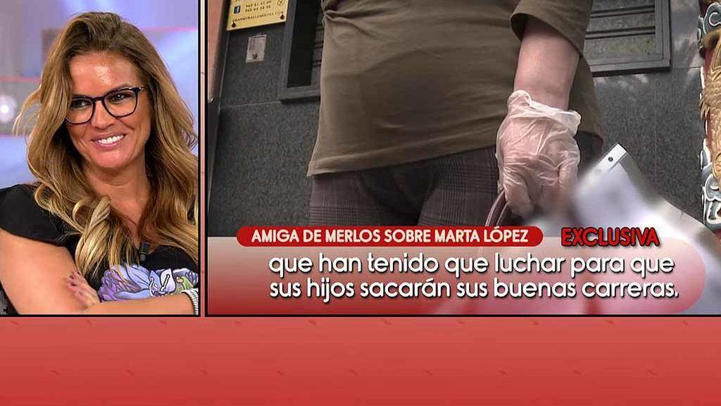 """Una amiga de Merlos se queja de le hayan """"destrozado"""" la carrera y Marta López responde: """"Si se destroza, se destroza él solo por lo que haya hecho"""""""
