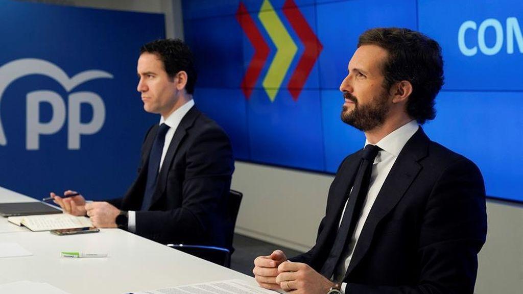 Pablo Casado preside el comité de dirección de su partido