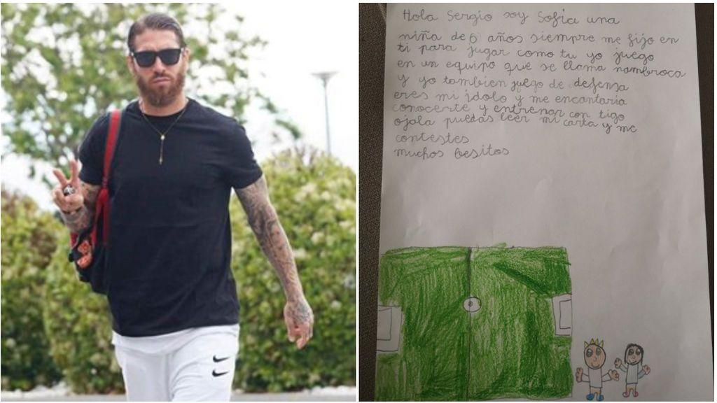 Sergio Ramos y la carta que le escribió Sofía.