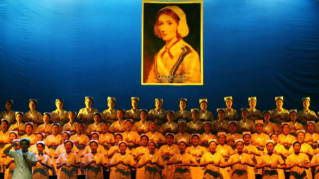 Homenaje a Florence Nightingale en China
