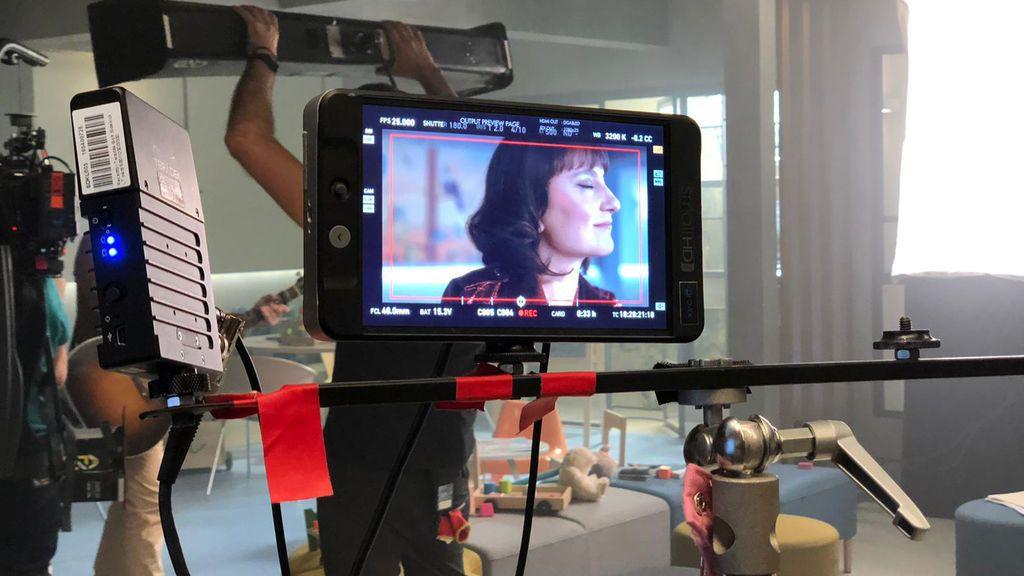 Imagen tomada durante el rodaje.